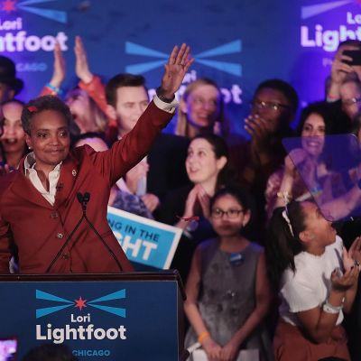 Lori Lightfoot juhli vaalivoittoaan Chicagossa 2. huhtikuuta.
