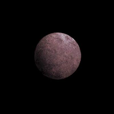 Taiteilijan näkemys 2007 OR10 -planeetasta.