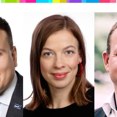 Vaalit Li Andersson / Ville Tavio / Petteri Orpo