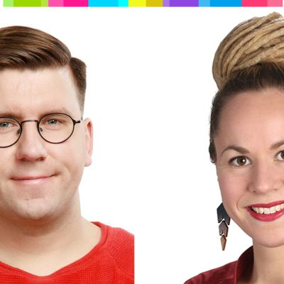 Sebastian Tynkkynen ja Hanna Sarkkinen.