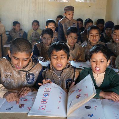 Afgaanipakolaisten leiri Islamabad.
