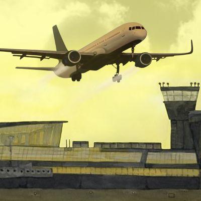 Lentokenttä ja lentokone