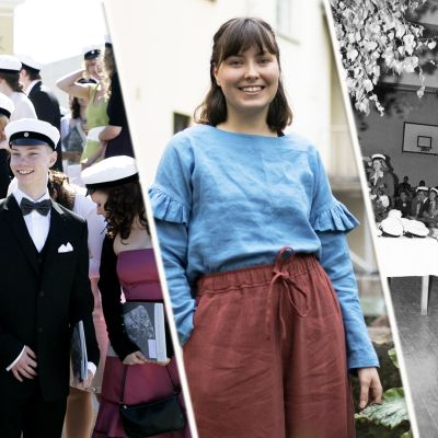 Kuvissa ylioppilasmuotia vuodelta 2008, tältä keväältä sekä 1970-luvulta.