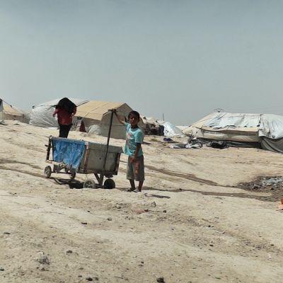 Näkymä al-Holin leiristä 23. toukokuuta.