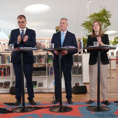 Pekka Haavisto Juha Sipilä Antti Rinne Li Andersson Anna-Maja Henriksson.