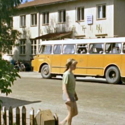 Postiauto Ilomantsissa 1966