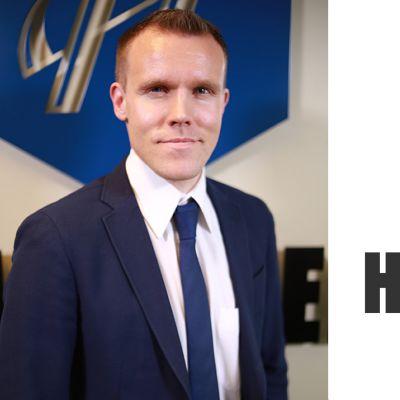 Kuva Juha-Matti Huhtasesta ja Huhtanen Capitalin logo