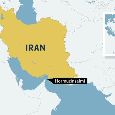 Iranin kartta.