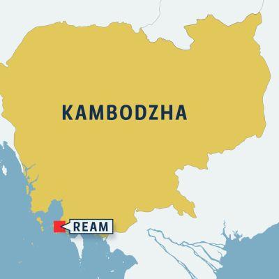 Ream Kambodzhan kartalla.
