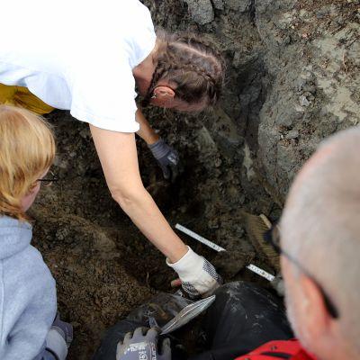 Hevoshaudan kaivaukset Korialla Kouvolassa