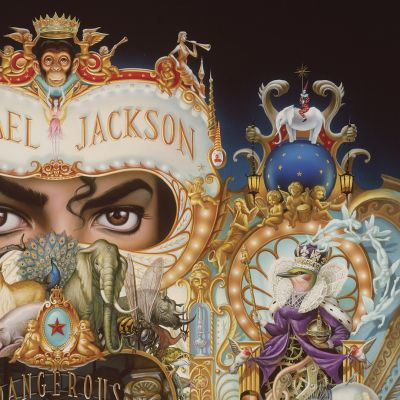 Mark Rydenin teoksen The King of Pop (#135) yksityiskohta.