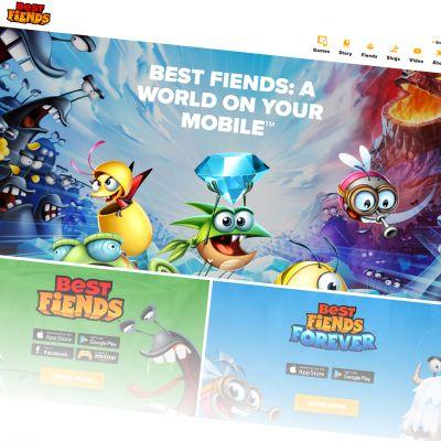 Kuvakaappaus Best Friends - pelin nettisivusta.