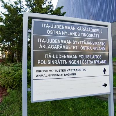 Itä-uudenmaan käräjäoikeus, poliisilaitos, oikeustalo kyltti