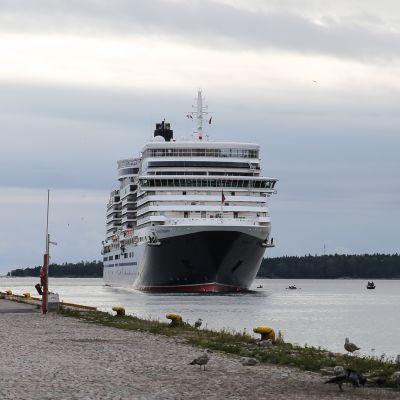 Aktivistit yrittivät estää loistoristeilijän lähdön Helsingissä