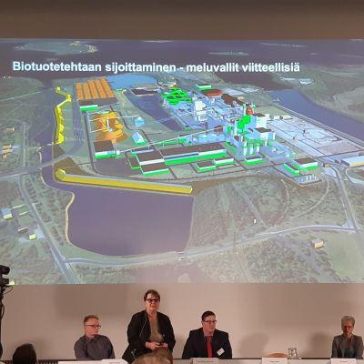 Metsä Fibren Kemin biotuotetehtaas YVA-tilaisuus Kemissä 1.10.2019