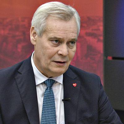 Antti Rinne Ylen aamussa perjantaina 25. lokakuuta 2019.
