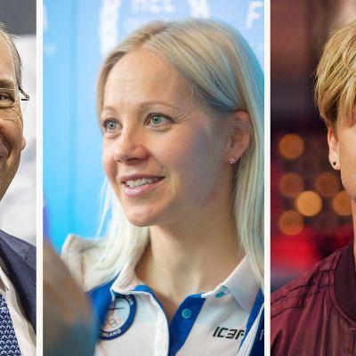 Matti Lievonen, Kaisa Mäkäräinen ja Samu Haber.