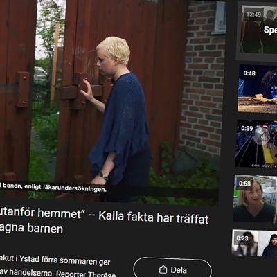Kuvakaappaus Kalla Fakta -ohjelmasta.
