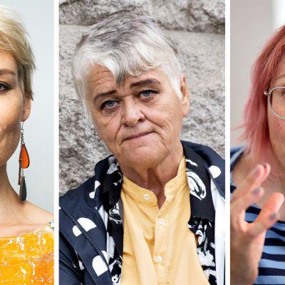 Laura Lindstedt, Pirkko Saisio ja Meiju Niskala.