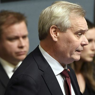 Pääministeri Antti Rinne eduskunnan suullisella kyselytunnilla.