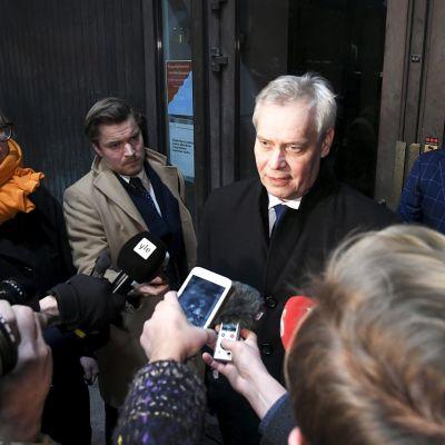 Pääministeri Rinteen kommentti puoluehallituksen kokouksen jälkeen