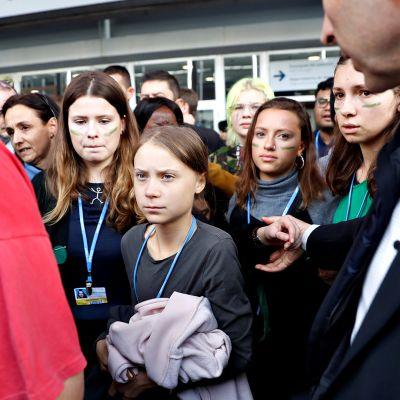 Greta Thunbergin tiedotustilaisuus YK:n ilmastokokouksessa Madridissa