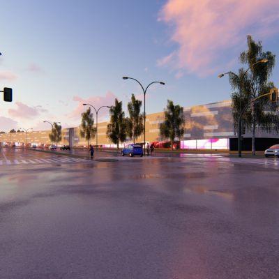 Raksilan uudet marketit sijoittuvat havainnekuvassa Kajaanintien varteen.