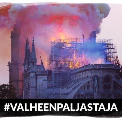 Notre Damen katedraali palaa.