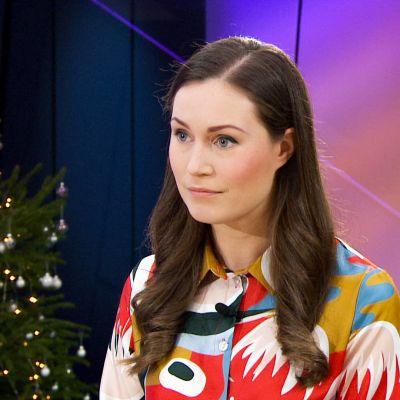 Sanna Marin Ylen ykkösaamu-ohjelmassa 21.12.2019