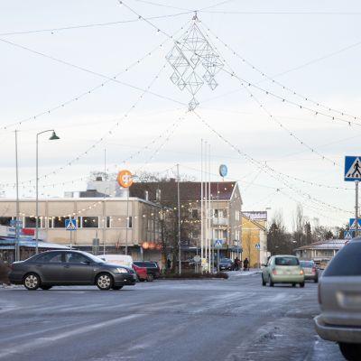 Katunäkymä Laitilan keskustasta.