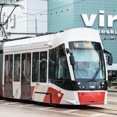 Raitiovaunu Tallinnassa.