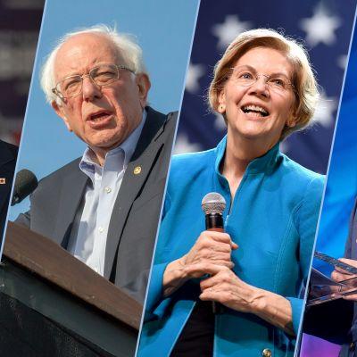 Joe Biden, Bernie Sanders, Elizabeth Warren ja Pete Buttigieg