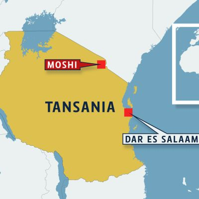 Tansanian kartta.