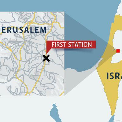 Jerusalemin kartta.