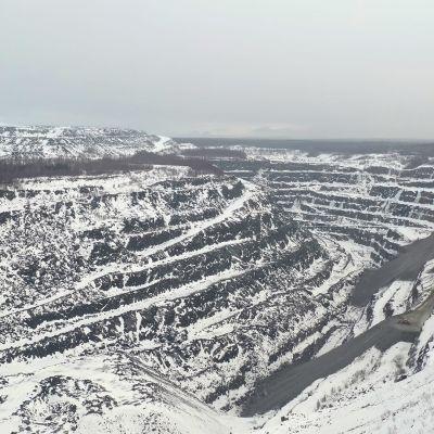 Outokummun Elijärven kaivoksen avolouhos