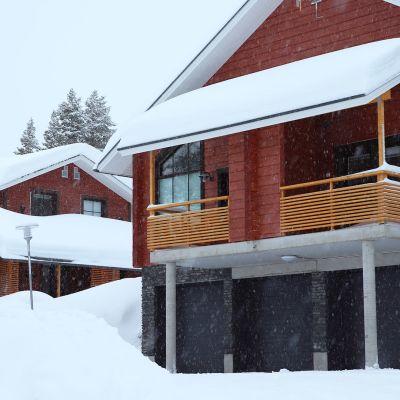 Vuokramökkejä Levin lumisissa maisemissa