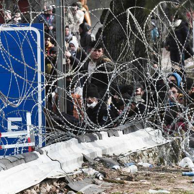 Kreikan ja Turkin rajan ylityspaikka.