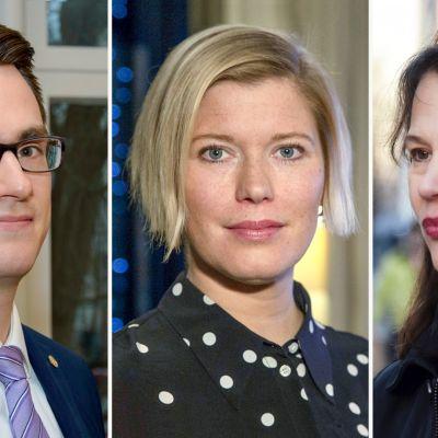Juhana Brotherus, Heidi Schauman ja Elina Pylkkänen.
