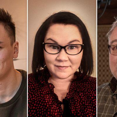 Puoli7 vuoden 2020 Suomen Paras Kummi -kilpailun kolme finalistia rinnakkain.