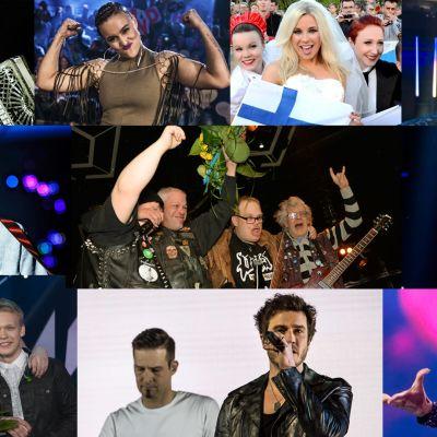 Kaikki 2010-luvun Suomen euroviisuedustajat.