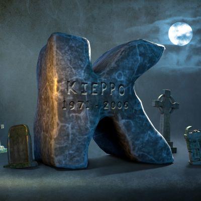 K-kirjain hautausmaalla