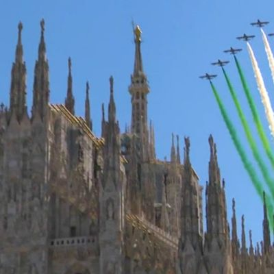 Italian ilmavoimat antoi trikolorihalauksen