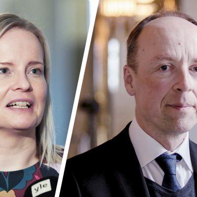 Riikka Purra ja Jussi Halla-aho.
