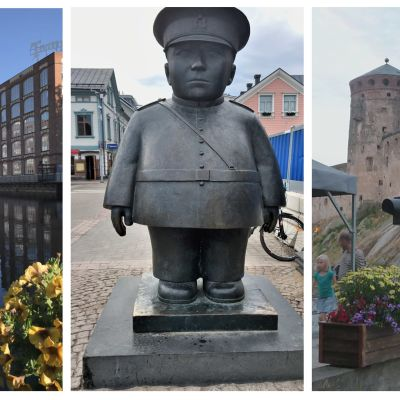 Tammerkoski, Oulun torin poliisipatsas ja Olavinlinna