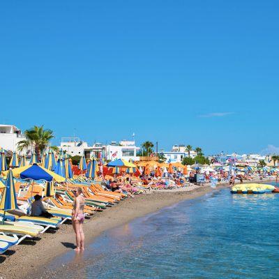 Uimaranta Kos:in kaupungissa Kreikassa.