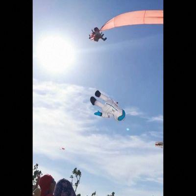 Leija tempasi lapsen taivaalle Taiwanissa