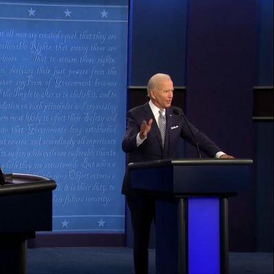 Trump vyörytti ja keskeytti, Biden puolustautui maltillisesti