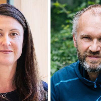Kuvassa Rosemary Purcell ja Göran Kenttä