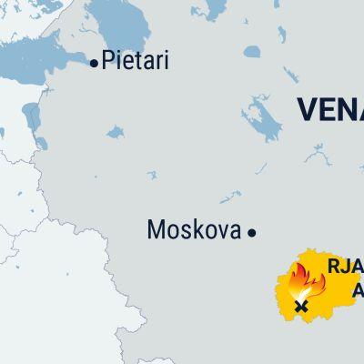 Kartta Venäjältä.