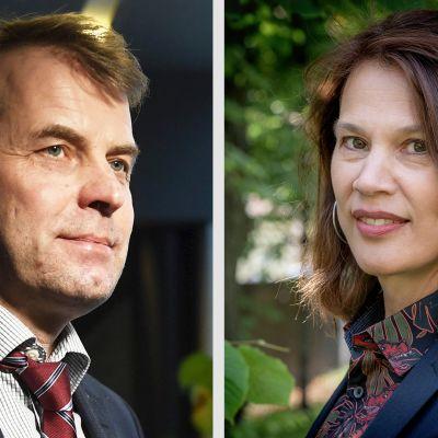 Kuvassa Roope Uusitalo ja Elina Pylkkänen